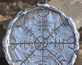 The Helm of Awe  Old Norse Ægishjálmr Protection Pendant. Magical Rune.Magical Amulet.Viking Protection Symbol. Aegishjalmur pendant