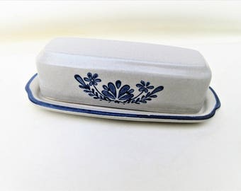 Vintage Pottery Butter Dish | Pfaltzgraff Yorktowne | Butter Keeper | Covered Butter Dish