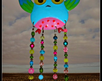 Colorful Metal Owl Windchime/Mobile