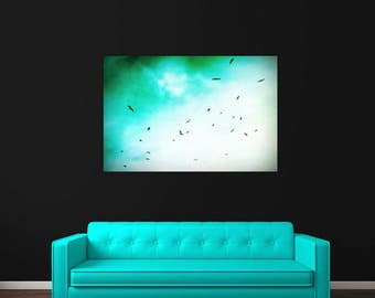 Seagulls Flying Photography Print