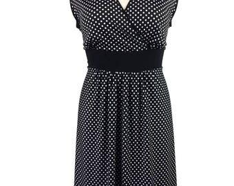 Plus Size Polka Dot Dress - Black & White - Sassy summer sundress - Plus size clothing xl - 1x - 2x - 3x