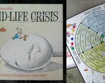 Mid Life Crisis Board Game Vintage 1980s Home Decor DIY