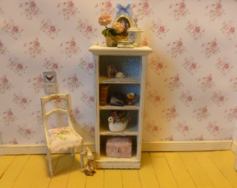 Shabby Chic Country Shutter Cabinet for Dollhouse