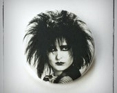 "Siouxsie - Large 2.5"" Pin Back Button"