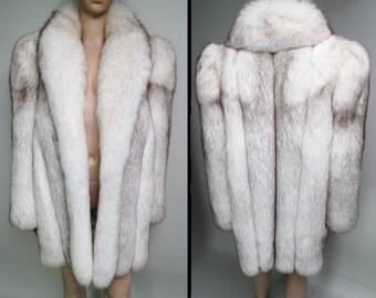 Fox Fur Coat//Stroller Length//Saga Fox// Designer Mink Coat//Vintage Fox Fur Coat//