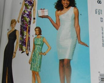 McCall's MP498/7283 Misses'/Miss Petite Dresses Size E5 (14-16-18-20-22) Formal or Cocktail Dress