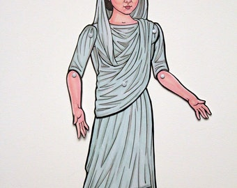 Livia Drusilla Augusta Ancient Roman Empress Queen Articulated Paper Doll