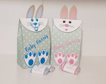 Set of 10.  Easter Bunny Bags, Easter Bunny Personalized Bags, Easter Personalized bags, Easter Favor Bags,