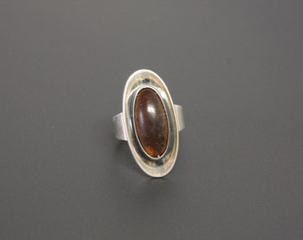 Niels Erik From Amber Ring Denmark Sterling Silver Ring Size 7