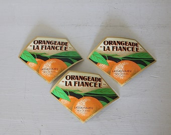 FREE WORLDWIDE SHIPPING French Vintage Bottle Labels Kitsch Scrapbooking Decoupage