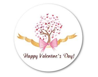 """Valentines - Valentine Stickers - Love Stickers - Valentines Day - Custom Valentine - 1.25"""", 1.5"""" or 2"""""""