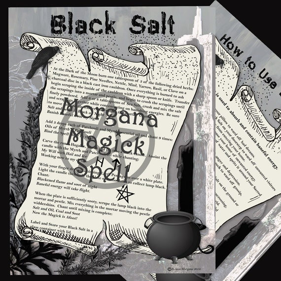 BLACK SALT - Magick and Banishing, Digital Download, Book of Shadows, Scrapbook,  Wicca, Pagan, Witchcraft, White Magick, Magick Spell