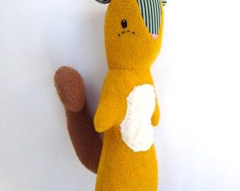Samson the Squirrel, organic squirrel, plush squirrel, organic toy, organic, squirrel toy, organic plush