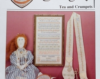 50%OFF Pat Thode Artists Collection TEA AND Crumpets Sampler By Heartstrings - Counted Cross Stitch Pattern Chart