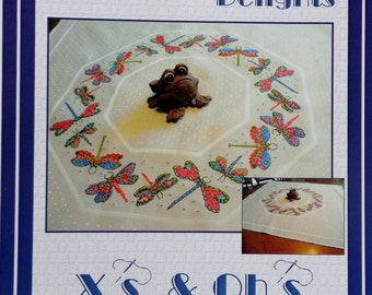 Counted Cross Stitch Pattern DRAGONFLY DELIGHTS X's Oh's  By Joanne Gatenby Artwork By Anneke Lipsanen For Xs & Ohs