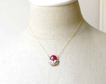 Ruby ropada necklace - July birthstone