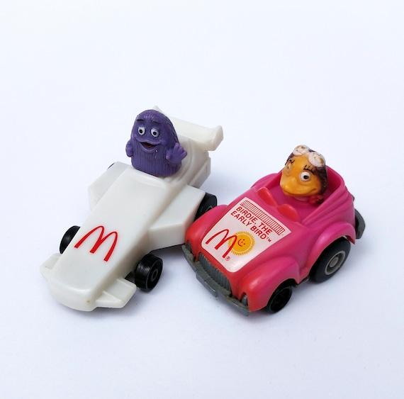 Vintage 1985 Grimace and Birdie Race Car Happy Meal Toys