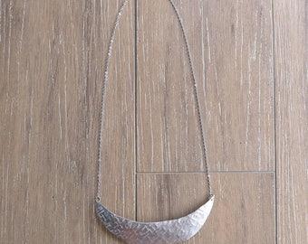 Crescent Moon Bib Necklace (No. 7)