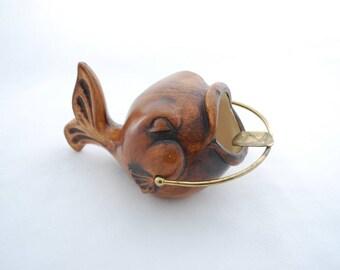 Vintage 1950's Treasure Craft Ceramic Fish Ashtray - Ashes Pot - Decorative Ocean Beach Sea Theme Ash Container