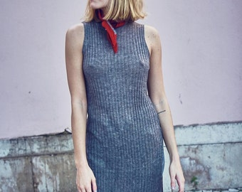 Vintage 90s Grey Tube Dress