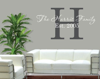 Vinyl Wall Decals - Personalized Family Name - Vinyl Lettering - Vinyl Wall Art - Family Vinyl Decal - PassionsConflictROB - 1005