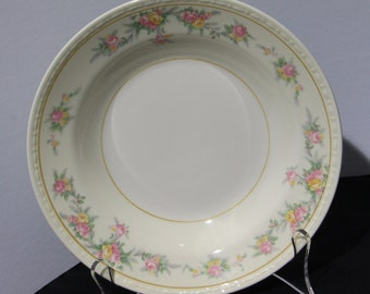 "Set of 6 Homer Laughlin Eggshell Georgian 8 1/4"" Rimmed Soups, Countess Pattern #G3432"