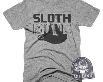Sloth Mode Tshirt Funny Sloth Shirt Tired AF Running Shirt Funny Tshirts Womens Graphic Tees Gifts For Boyfriends Funny Shirts Kids Shirts