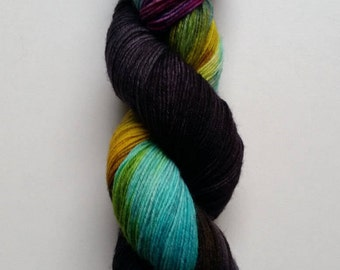 Nebula: hand dyed variegated Merino sock yarn by Star Fiber Studio