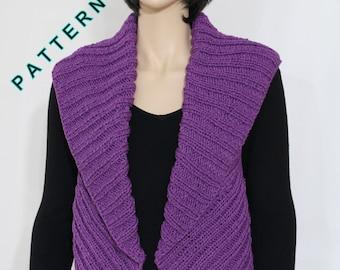knit Vest shrug pattern PDF Knit Vest Pattern Woman's Vest Pattern