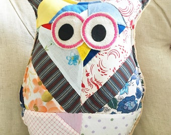 Essential Oil Vintage Fabric Owl Diffuser Pillow