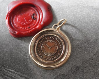 Wax Seal Charm Keep Calm - antique wax seal jewelry pendant Quiet Without Active Within Italian watch motto by RQP Studio