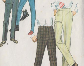 1970 Vintage Sewing Pattern for men's trousers, size 30 (Simplicity 8835)