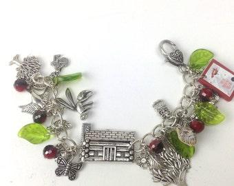 Little Red Riding Hood fairytale charm bracelet