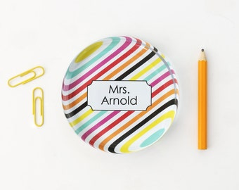 Personalized Glass Paperweight Girls Office Desk Accessories Custom Paper Weight Colorful Office Supplies Graduation Gift Teacher Gifts