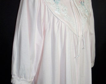 Size Small - Vintage Nightgown/Robe - From Vandemere - Full Length - Loungewear ~ 100% Cotton