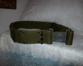 Vintage US Military Green Pistol Belt Alice LC 2 Quick Release Army Navy Only 10 USD