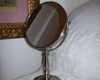 Vintage Vanity Dressing Table Round Swivel Free Standing Makeup Mirror Only 12 USD