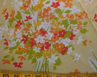 """Burlington House Vintage Percale Twin Flat Sheet """" Love Knots """"  Yellow Floral Bouquet"""