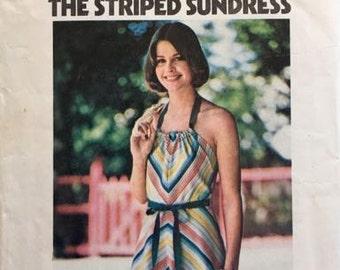 Butterick 4825 Tie On Striped Sundress