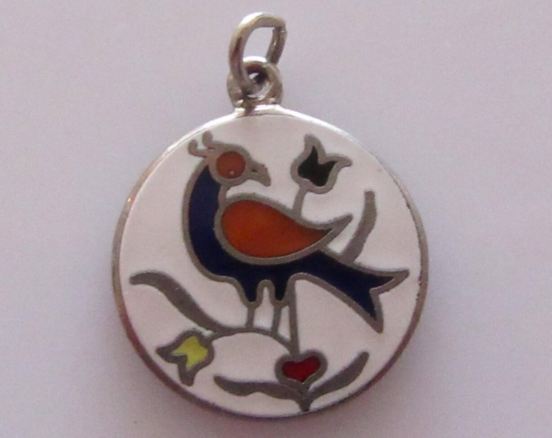 Silver enamel bird pennsylvania dutch hex symbol charm silver enamel bird pennsylvania dutch hex symbol charm biocorpaavc Images