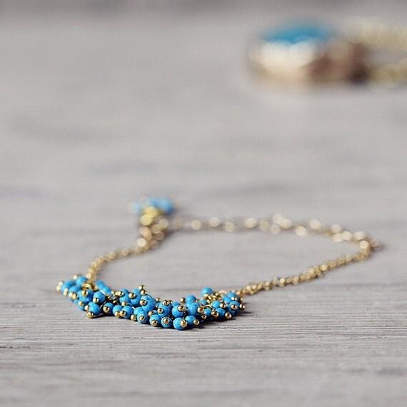 Blue Turquoise Bracelet - December Birthstone Gift