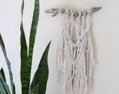 Boho Macrame Wall Hanging Tapestry / Bohemian Shabby Chic Wall Decor Yarn Hanging / OOAK