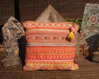 Vintage Hmong Textile Cushion Cover