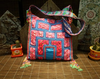 Embroidered Tribal Baby Carrier Textile Shoulder Bag