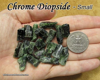Chrome Diopside (small) raw rough stone for crystal healing