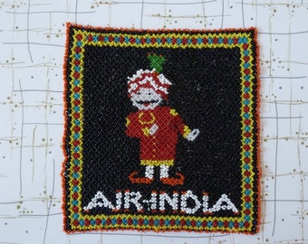60's Air India Airlines Beaded Art Promotional Display