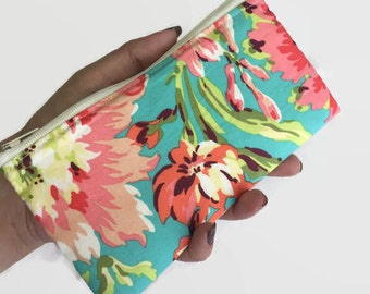 Makeup Bag, Costmetic Case, Makeup Storage, Zippered Pouch, Purse Organizer, Cosmetic Pouch, Cosmetic Bag, Floral Makeup a Bag