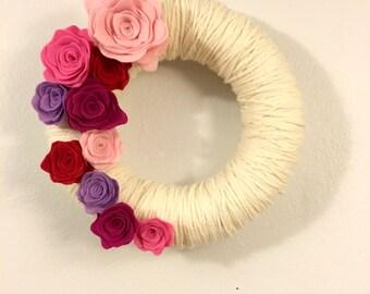 Yarn Wreath Handmade Felt Decoration-12 inch