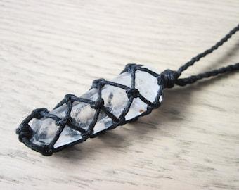 Raw Quartz Necklace, Lemurian Quartz Necklace, Clear Quartz Necklace, Boho Jewelry, Healing Crystal Jewelry, Lemurian Seed Crystal