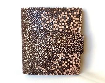 Bitty Dark Brown Stingray Leather Wallet
